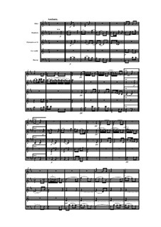 Woodwind Quintet in A Minor, Op.91 No.2: Movement II by Anton Reicha