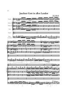 Jauchzet Gott in allen Landen. Cantata, BWV 51: Full score by Johann Sebastian Bach
