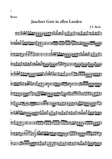 Jauchzet Gott in allen Landen. Cantata, BWV 51: Basso continuo part by Johann Sebastian Bach