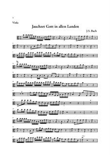 Jauchzet Gott in allen Landen. Cantata, BWV 51: Viola part by Johann Sebastian Bach