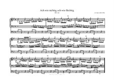 Ach wie nichtig, ach wie flüchtig (Oh How Vain, Oh How Fleeting), BWV 644: For organ by Johann Sebastian Bach