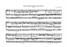 Dies sind die heil'gen zehn Gebot', BWV 635: Dies sind die heil'gen zehn Gebot' by Johann Sebastian Bach