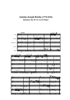 Woodwind Quintet in D Major, Op.99 No.4: Movement I by Anton Reicha