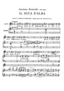 Il duca d'Alba. Act IV Romance 'Angelo casto e bel': Il duca d'Alba. Act IV Romance 'Angelo casto e bel' by Gaetano Donizetti