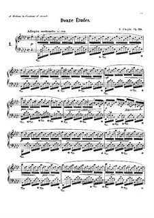 No.1 in A Flat Major: For piano by Frédéric Chopin