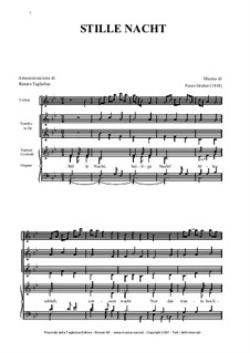 Silent Night (Downloadable): For violin, trumpet, mixed choir and organ by Franz Xaver Gruber