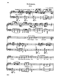 Solomon, HWV 67: What Though I Trace Each Herb and Flower by Georg Friedrich Händel