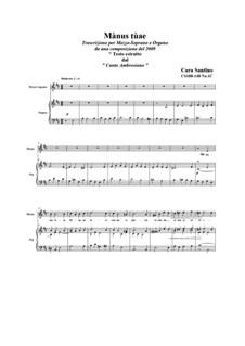 Mànus tùae_mezzosoprano and organ, CS188-148 No.1C: Mànus tùae_mezzosoprano and organ by Santino Cara