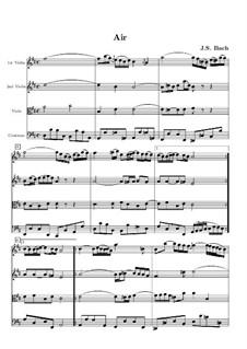 Aria: Full score by Johann Sebastian Bach