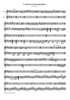 A curio for ocarina and guitar: A curio for ocarina and guitar by David W Solomons