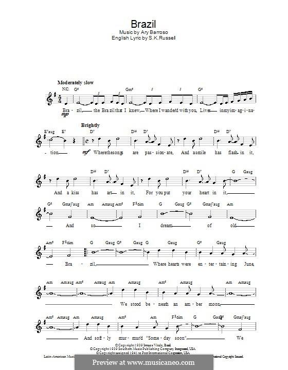 Brazilian songs lyrics