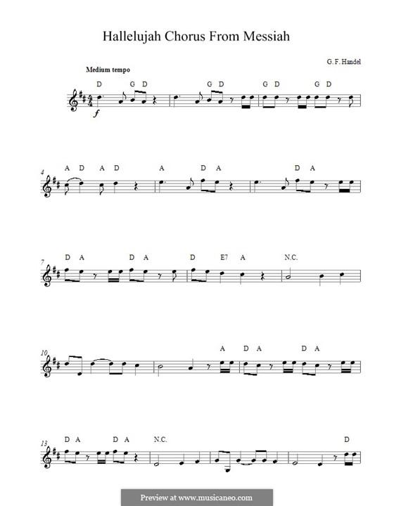 No.44 Hallelujah: For voice by Georg Friedrich Händel