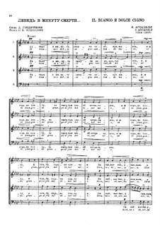 Il bianco e dolce cigno: Vocal score by Jacques Arcadelt