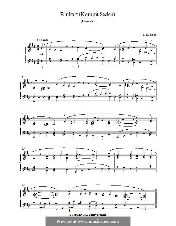 Rinkart (Kommt Seelen): Rinkart (Kommt Seelen) by Johann Sebastian Bach