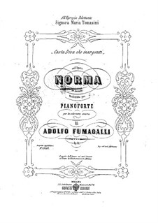 Casta diva, che inargenti: For piano by Vincenzo Bellini