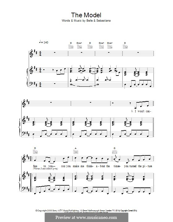 the model by belle and sebastian sheet music on musicaneo. Black Bedroom Furniture Sets. Home Design Ideas