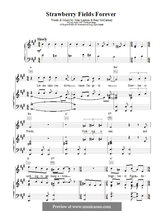 Strawberry Fields Forever Chords
