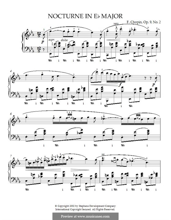 No.2 in E Flat Major: For piano (with fingering) by Frédéric Chopin