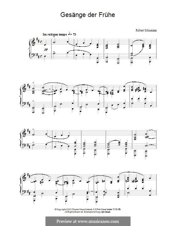 Gesänge der Frühe (Morning Songs), Op.133: No.1 by Robert Schumann