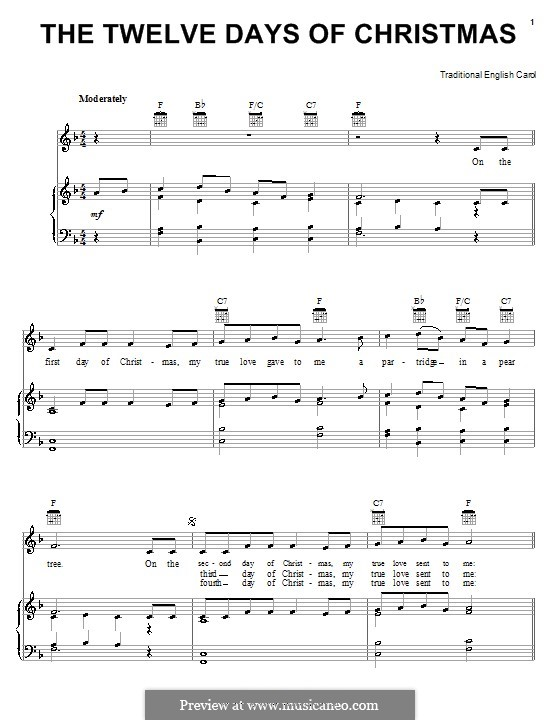 Guitar : guitar tabs 12 days of christmas Guitar Tabs 12 Days also ...