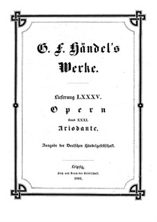 Ariodante, HWV 33: Full score by Georg Friedrich Hndel