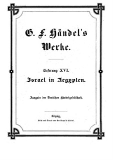 Israel in Egypt, HWV 54: Full score by Georg Friedrich Händel