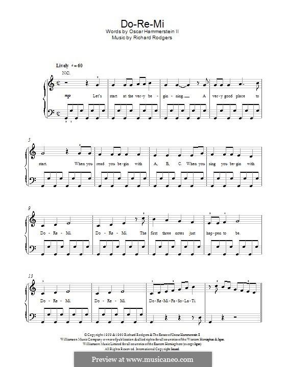 Do-Re-Mi (from The Sound of Music): Für Klavier, leicht by Richard Rodgers