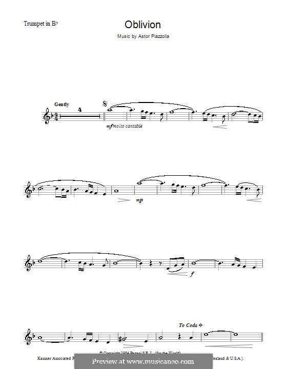 Oblivion: Für Trompete by Astor Piazzolla