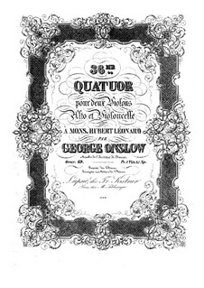 Streichquartett Nr.36 in A-Dur, Op.69: Stimmen by Georges Onslow