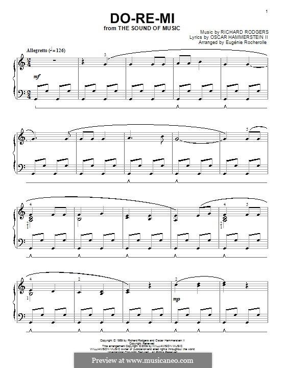 Do-Re-Mi (from The Sound of Music): Für Klavier (Noten von hohem Qualität) by Richard Rodgers