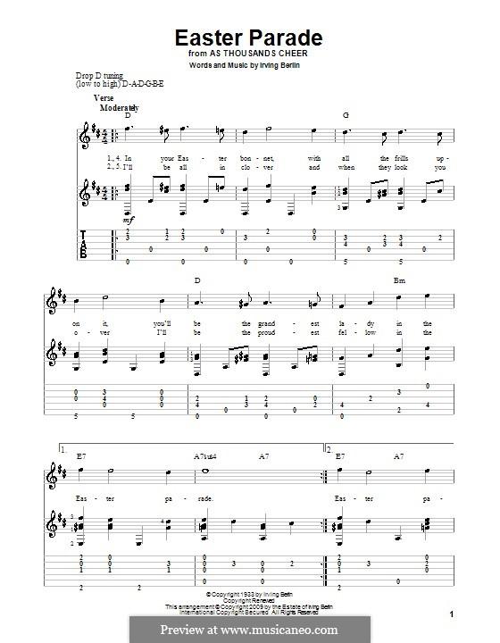 Easter Parade: Für Gitarre mit Tabulatur by Irving Berlin