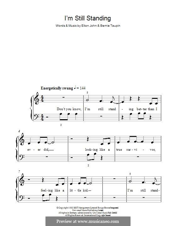 I'm Still Standing: Für Klavier, leicht by Elton John