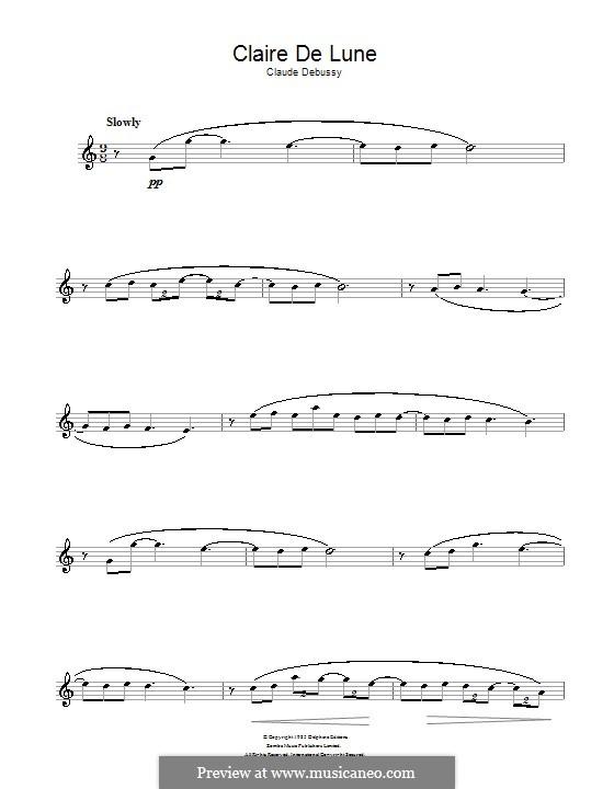 No.3 Clair de lune: Für Altsaxophon by Claude Debussy