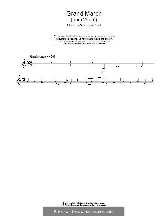 Marsch: Für Klarinette by Giuseppe Verdi