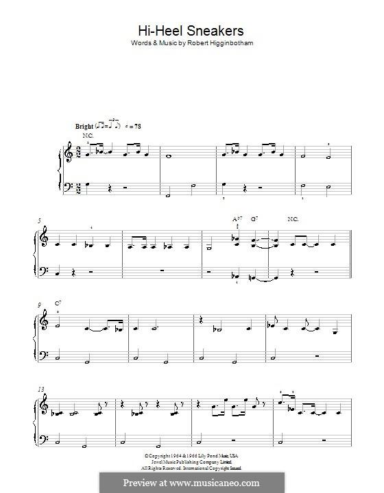 Hi-Heel Sneakers (Tommy Tucker): Für Klavier, leicht by Robert Higginbotham