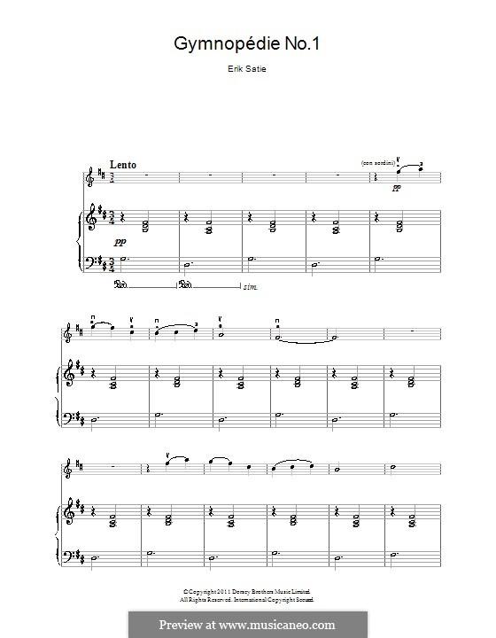 gnossienne no 1 sheet music pdf