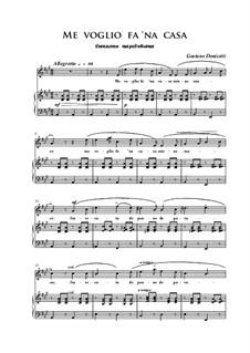 Me voglio fa 'na casa: A-Dur by Gaetano Donizetti
