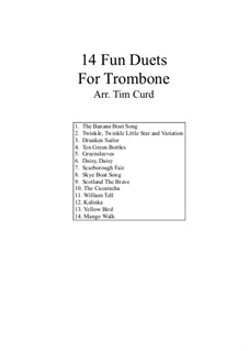 14 Fun Duets: For two trombones by folklore