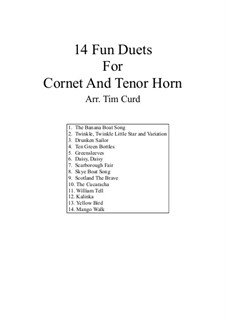 14 Fun Duets: For cornet and tenor horn by folklore