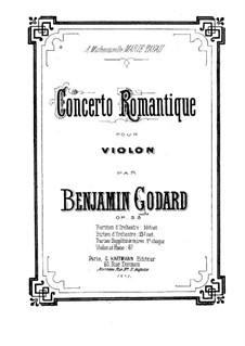 Romantisches Konzert fr Violine und Orchester, Op.35: Vollpartitur by Benjamin Godard