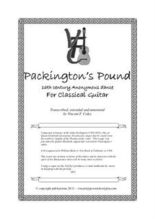 Packington's Pound: Für Gitarre by Unknown (works before 1850)