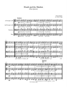 Tod und das Mädchen, D.531 Op.7 No.3: Für Blechblasquartett by Franz Schubert