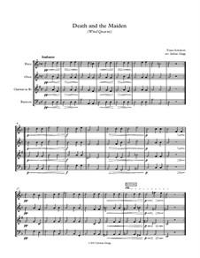 Tod und das Mädchen, D.531 Op.7 No.3: For wind quartet by Franz Schubert