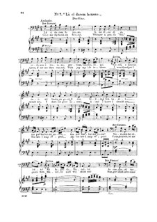 Reich mir die Hand, mein Leben: For bass and mezzo and piano by Wolfgang Amadeus Mozart