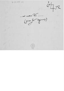Fünfzig Klavierstücke für Anfänger: Heft III (Manuskript) by Ernst Levy