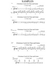 O hehre Nacht: Für Flöte und Gitarre by Adolphe Adam