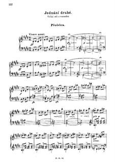 Zwei Witwen, T.109: Akt II. Antrakt, für Klavier by Bedřich Smetana