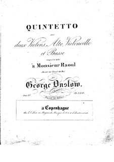 Streichquintett Nr.9 in C-Dur, Op.25: Stimmen by Georges Onslow