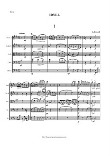 Idyll - Suite for String orchestra, JW 6/3: Partitur by Leoš Janáček