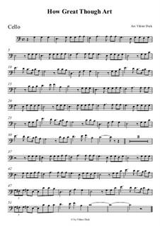 Du grosser Gott, wenn ich die Welt betrachte: Für Cello by folklore